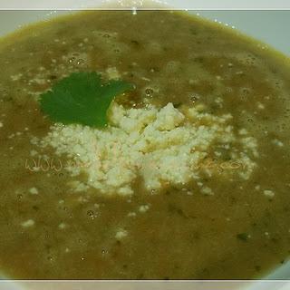 Creamy Bean and Cilantro Soup.