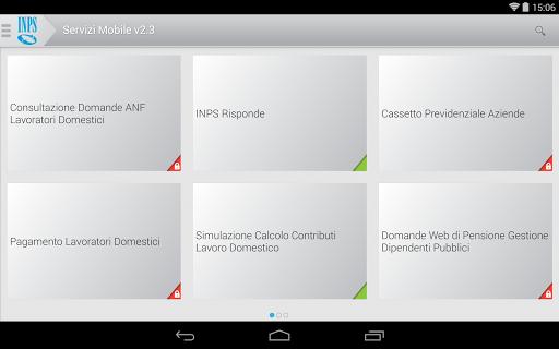 INPS Servizi Mobile per Tablet