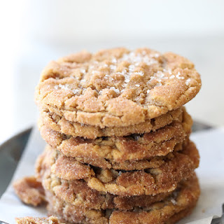 Flourless Chewy Cinnamon Sugar Peanut Butter Cookies.