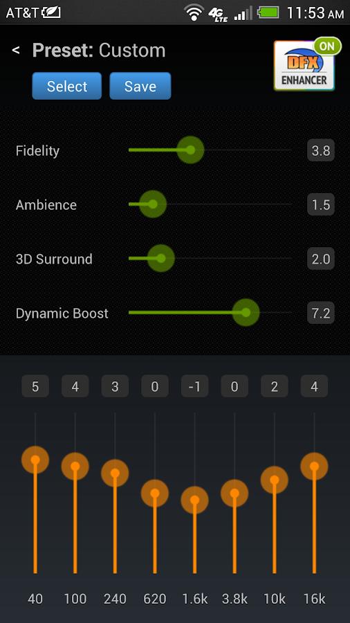 DFX Music Player Enhancer Pro - screenshot