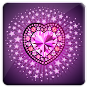 Diamond Heart 3D LiveWallpaper icon