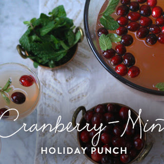 Cranberry-Mint Holiday Punch.