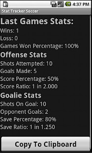 Stat Tracker: Soccer/Football - screenshot thumbnail