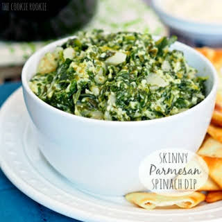 Crockpot Skinny Parmesan Spinach Dip.