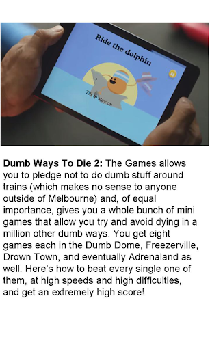 Guide For Dumb Ways to Die 2