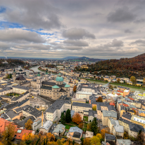 by Alex Barrow - Landscapes Travel ( salzburg, hdr, autumn, hohensalzburg, austria )
