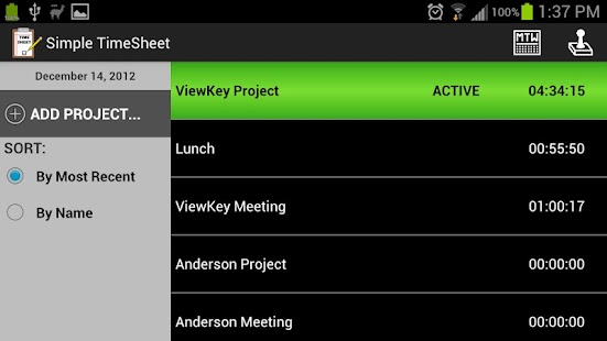 Simple TimeSheet - screenshot thumbnail