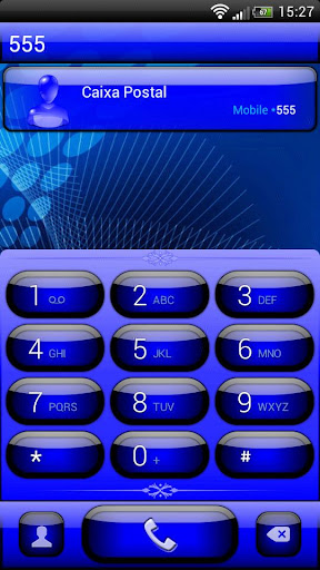 exDialer Jelly Blue Theme