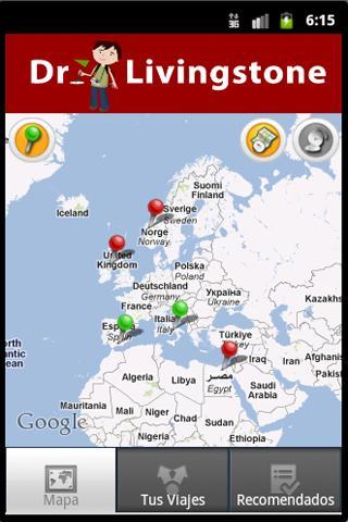 Agenda de Viajes Livingstone- screenshot