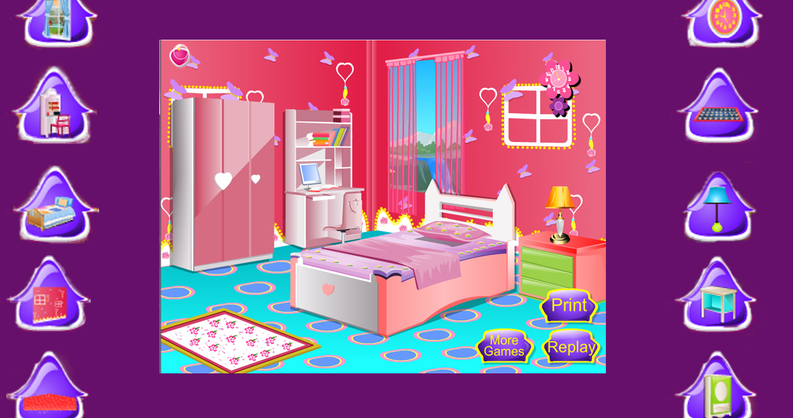 Kids room decoration girl game android apps on google play for All barbie house decoration games