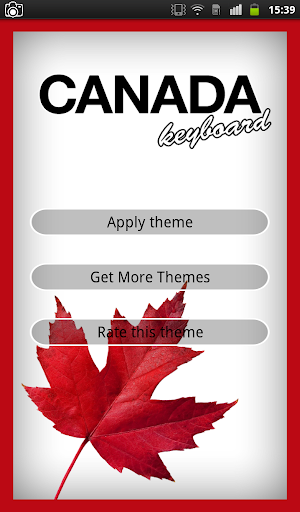Canada Keyboard Theme