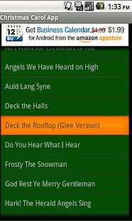 Christmas Carol App - screenshot thumbnail