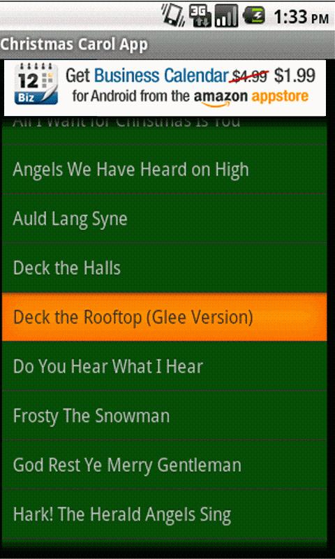 Christmas Carol App - screenshot