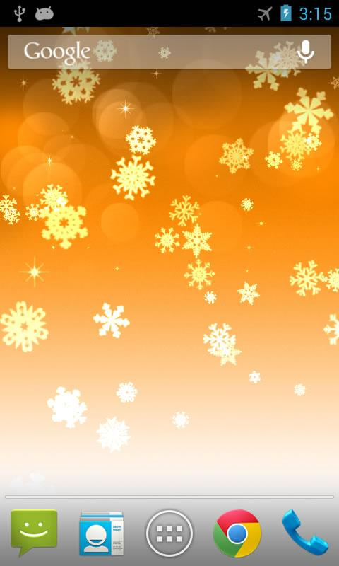 Snowflake Pro Live Wallpaper- screenshot