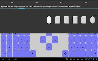 Screenshot of Adaptxt Tablet Keyboard - Free
