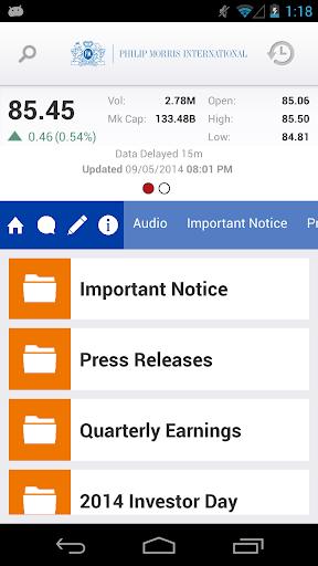 PMI IR Mobile Application