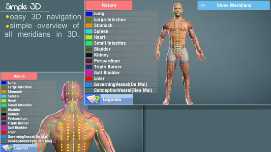 Easy Acupuncture 3D -LITE- screenshot thumbnail