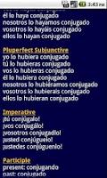 Screenshot of ProConjugate Spanish