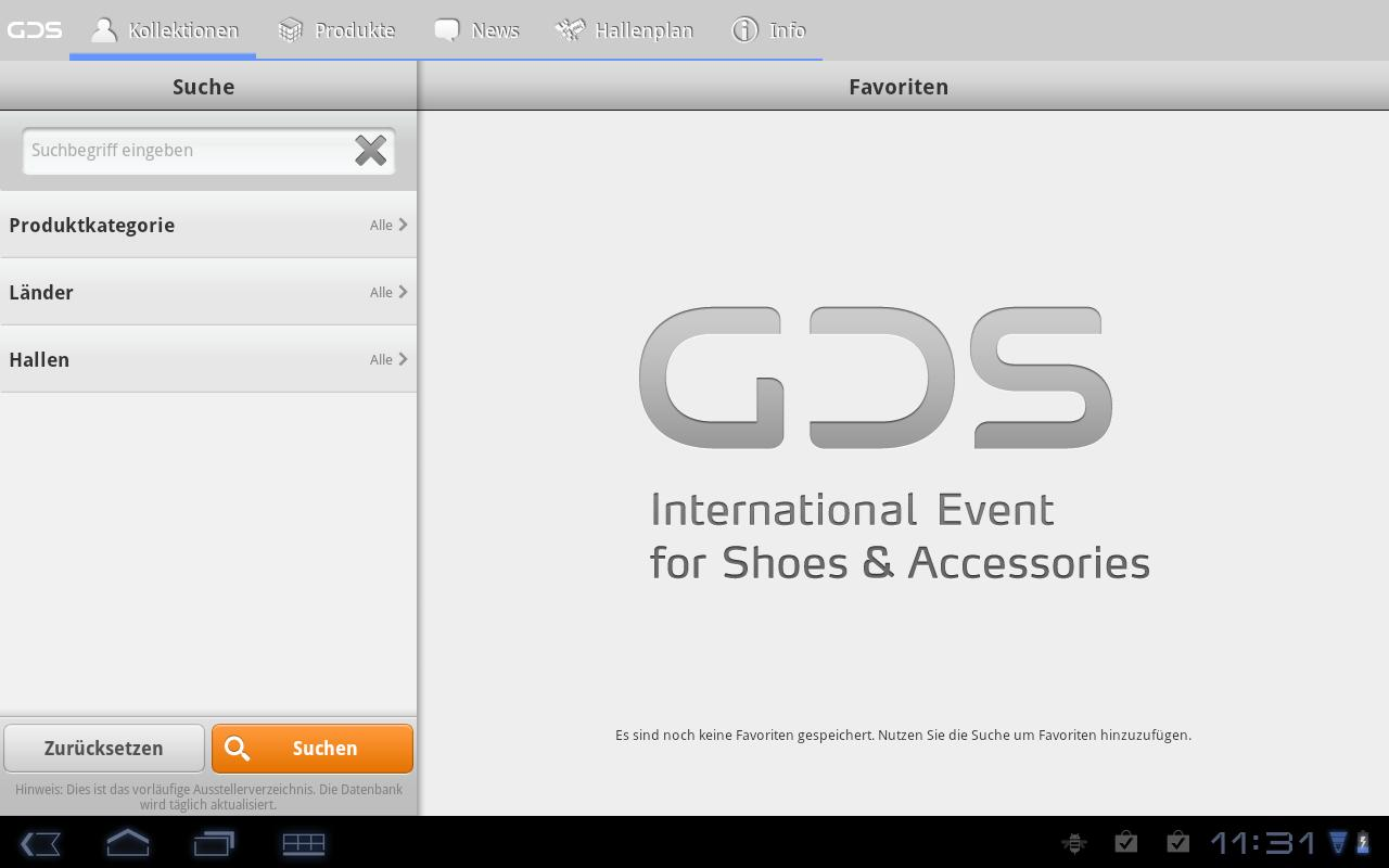 GDS App - screenshot