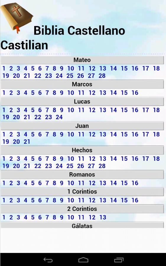 Biblia Castellano Castilian NT - screenshot