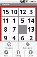 Screenshot of 15n Puzzle Game