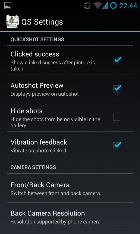 QuickShot HD Camera - screenshot