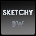 Sketchy B&W Apex Nova ADW Holo icon