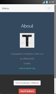 Typography Conversion Chart Screenshot 4