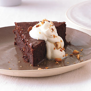 Flourless Chocolate-Hazelnut Cake.