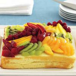 Sponge Cake With Custard And Fruits Recipes.
