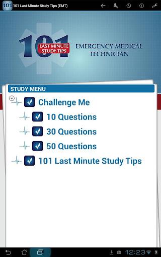 101 Last Min Study Tips EMT