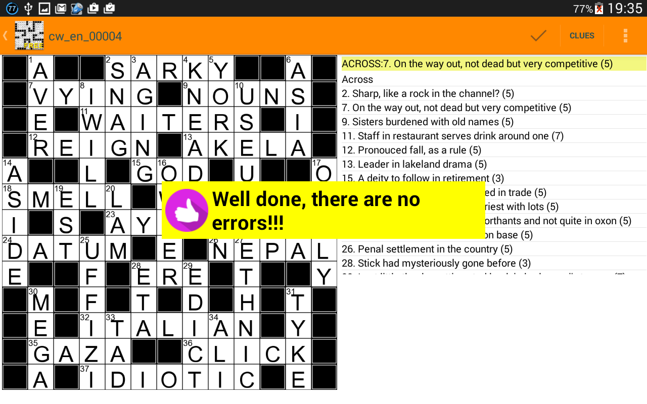 Free Crosswords Quiz Wordplay