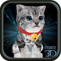 Fluffy Cat Pet 3D HD - free icon
