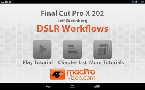 Final Cut Pro X DSLR Workflows