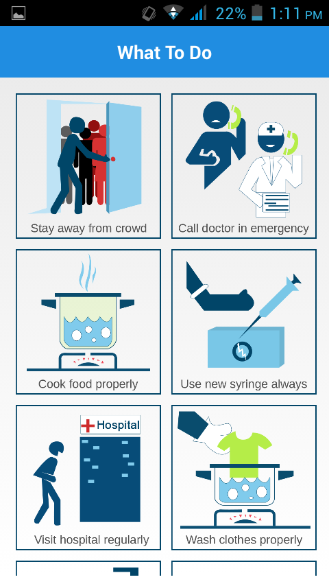 Ebola protection awareness- screenshot