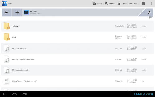 Zenfield File Manager - screenshot thumbnail
