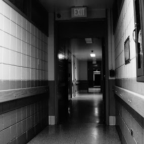 The asylum by Iggy - Black & White Buildings & Architecture ( black and white, psychiatry, hospital )