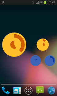 Color Disks Clock- screenshot thumbnail