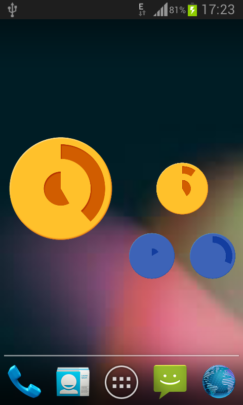 Color Disks Clock- screenshot