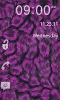 Screenshot of GO Locker- Pink Fur Theme