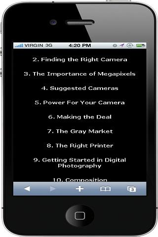 Digital Photography Tutorials - screenshot