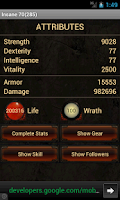 Screenshot of Mobile Armory for Diablo 3