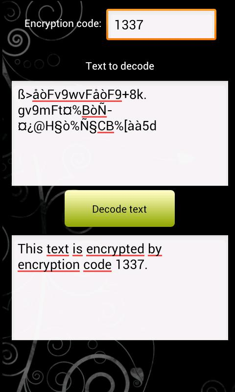 SMS encoder - screenshot