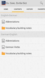 CONCISE OXFORD GERMAN DICT- screenshot thumbnail