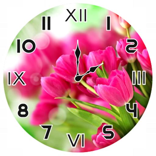 Pink Tulips Analog Clock on Google Play Reviews   Stats