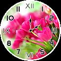 Pink Tulips Analog Clock icon