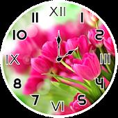Pink Tulips Analog Clock