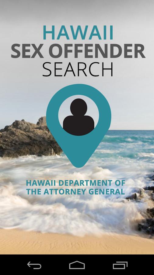 Hawaii Sex Offender Search - screenshot