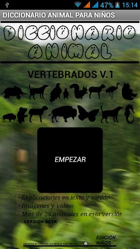 Diccionario animal Vertebrados