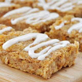 Sweet Potato Protein Bars with Cream Cheese Frosting (Vegan, Gluten-Free).